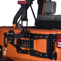 RedRock 4x4 Rear Hinged Tire Carrier w/Tire Mount (07-15 Wrangler JK) - RedRock 4x4 J100139