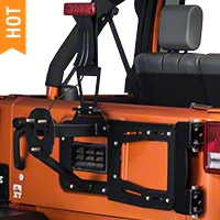 RedRock 4x4 Rear Hinged Tire Carrier w/ Tire Mount (07-16 Wrangler JK) - RedRock 4x4 J100139