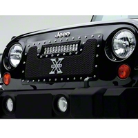 T-REX TORCH Series LED Light Grille 1 - 12 in. LED Bar (07-14 Wrangler JK) - T-REX 6314831