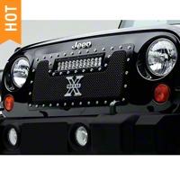 T-REX TORCH Series LED Light Grille 1 - 12 in. LED Bar (07-16 Wrangler JK) - T-REX 6314831
