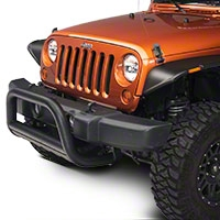Barricade 3 in. Bull Bar w/ Skid Plate - Textured Black (10-15 Wrangler JK) - Barricade J100162