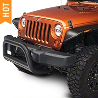 Barricade 3 in. Bull Bar w/ Skid Plate - Textured Black (10-16 Wrangler JK) - Barricade J100162