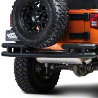 Barricade Rear Tubular Bumper -Textured Black (07-14 Wrangler JK) - Barricade J100170
