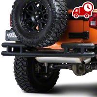 Barricade Rear Tubular Bumper -Textured Black (07-16 Wrangler JK) - Barricade J100170