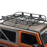 Barricade Roof Rack Basket - Textured Black (87-16 Wrangler YJ, TJ & JK) - Barricade J100175