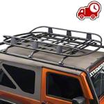 Barricade Roof Rack Basket - Textured Black (87-16 Wrangler YJ, TJ & JK) - Barricade J100175