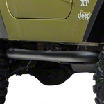 Red Rock 4x4 3in. Round Side Step - Textured Black (87-06 Wrangler YJ & TJ) - Red Rock 4x4 J100176