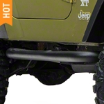 RedRock 4x4 3 in. Round Side Step - Textured Black (87-06 Wrangler YJ & TJ) - RedRock 4x4 J100176