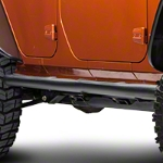 RedRock 4x4 3 in. Curved Round Side Step - Textured Black (07-14 Wrangler JK 4 Door) - RedRock 4x4 J100177