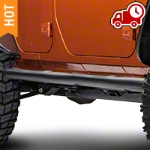 RedRock 4x4 3 in. Curved Round Side Step - Textured Black (07-16 Wrangler JK 4 Door) - RedRock 4x4 J100177