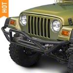 RedRock 4x4 Rock Crawler Front Grille Guard - Textured Black (87-06 Wrangler YJ & TJ) - RedRock 4x4 J100181