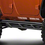 Red Rock 4x4 Side Armor - Textured Black (07-14 Wrangler JK 4 Door) - Red Rock 4x4 J100185||J100185