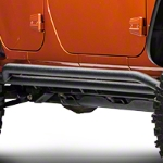 Red Rock 4x4 Rocker Guard - Textured Black (07-14 Wrangler JK 4 Door) - Red Rock 4x4 J100187||J100187
