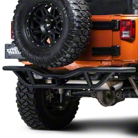 Red Rock 4x4 Rock Crawler Rear Bumper - Textured Black (07-14 Wrangler JK) - Red Rock 4x4 J100190