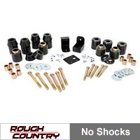 Rough Country 1 in. Body Lift Kit w/o Shocks (97-06 Wrangler TJ) - Rough Country RC607