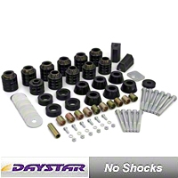 Daystar 1 In. Body Lift Kit for 4WD, Replaces Factory Mounts, Includes Hardware & Radiator Core Supports (87-95 Wrangler YJ) - Daystar KJ04505BK