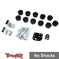 TeraFlex 1 in. Body Lift Kit-UHMW Synthetic Spacers (97-06 Wrangler TJ) - Teraflex 1942101
