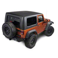 Rally Tops 1 Piece Hardtop - Black (07-14 Wrangler JK 2 Door) - Rally Tops XTR-WRANGLERJK2DR