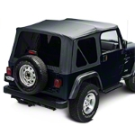 Barricade Replacement Soft Top with Tinted Windows for Full Doors - Black Diamond (97-06 Wrangler TJ) - Barricade J100494