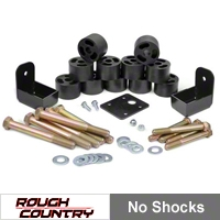 Rough Country 1.25 in. Body Lift Kit w/o Shocks (97-06 Wrangler TJ) - Rough Country 1157