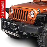 Barricade 3 in. Bull Bar w/ Skid Plate - Gloss Black (07-09 Wrangler JK) - Barricade J100510