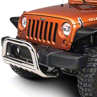 Barricade 3 in. Bull Bar w/Skid Plate - Stainless Steel (07-09 Wrangler JK) - Barricade J100511