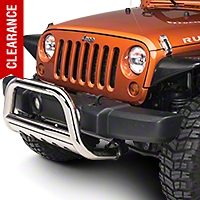 Barricade 3 in. Bull Bar w/ Skid Plate - Stainless Steel (07-09 Wrangler JK) - Barricade J100511