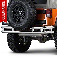 Barricade Rear Tubular Bumper w/ Wrap-around - Stainless Steel (07-15 Wrangler JK) - Barricade J100526