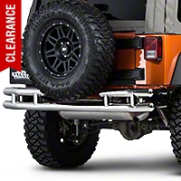 Barricade Rear Tubular Bumper - Stainless Steel (07-15 Wrangler JK) - Barricade J100529