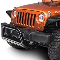 Barricade 3 in. Bull Bar w/Skid Plate - Gloss Black (10-14 Wrangler JK) - Barricade J100533
