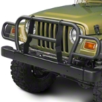 RedRock 4x4 Front Grille Guard - Textured Black (87-06 Wrangler YJ & TJ) - RedRock 4x4 J100537