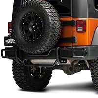 RedRock 4x4 Rear Double Tube Bumper Guard - Gloss Black (07-14 Wrangler JK) - RedRock 4x4 J100567