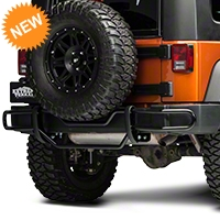 Red Rock 4x4 Rear Double Tube Bumper Guard - Gloss Black (07-14 Wrangler JK) - Red Rock 4x4 J100567