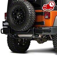 RedRock 4x4 Rear Double Tube Bumper Guard - Gloss Black (07-16 Wrangler JK) - RedRock 4x4 J100567