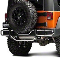 RedRock 4x4 Rear Double Tube Bumper Guard - Stainless Steel (07-15 Wrangler JK) - RedRock 4x4 J100568
