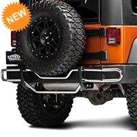Red Rock 4x4 Rear Double Tube Bumper Guard - Stainless Steel (07-14 Wrangler JK) - Red Rock 4x4 J100568