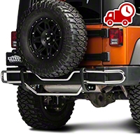 RedRock 4x4 Rear Double Tube Bumper Guard - Stainless Steel (07-16 Wrangler JK) - RedRock 4x4 J100568