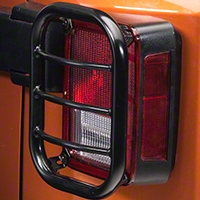 RedRock 4x4 Tail Light Guard - Black (07-14 Wrangler JK) - RedRock 4x4 J100570