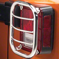 RedRock 4x4 Tail Light Guard - Stainless Steel (07-14 Wrangler JK) - RedRock 4x4 J100571