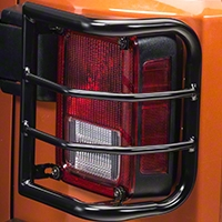 RedRock 4x4 Wrap Around Tail Light Guard - Gloss Black (07-14 Wrangler JK) - RedRock 4x4 J100582