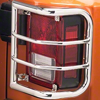 RedRock 4x4 Wrap Around Tail Light Guard - Stainless Steel (07-14 Wrangler JK) - RedRock 4x4 J100583