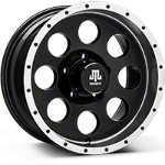 Mammoth 8 Beadlock Style Black Wheel - 16x8 (07-15 Wrangler JK) - Mammoth J100608