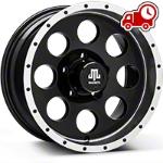 Mammoth 8 Beadlock Style Black Wheel - 16x8 (07-16 Wrangler JK) - Mammoth J100608