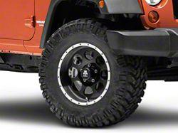 Mammoth 8 Beadlock Style Black Wheel - 17x9 (07-16 Wrangler JK)