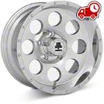 Mammoth 8 Beadlock Style Polished Wheel - 15x8 (87-06 Wrangler YJ & TJ) - Mammoth J100610