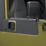 Barricade BodyShield Door Accent Decal - Textured Black (87-06 Wrangler YJ & TJ) - Barricade J100712