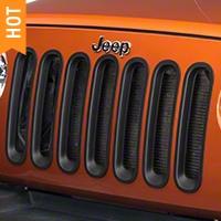 RedRock 4x4 Matte Black Grille Inserts (07-16 Wrangler JK) - RedRock 4x4 J100729
