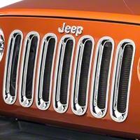 RedRock 4x4 Chrome Grille Inserts (07-16 Wrangler JK) - RedRock 4x4 J100730