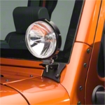 Barricade Windshield Mounted Light Brackets - Textured Black (07-14 Wrangler JK) - Barricade J100755