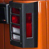 Barricade Tail Light Guard - Textured Black (07-14 Wrangler JK) - Barricade J100761